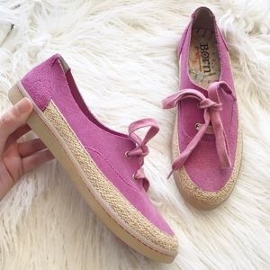 BORN pink suede sneakers